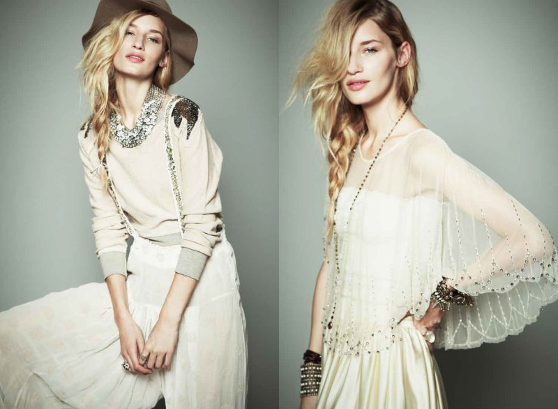 Linda Vojtova & Ruby Aldridge for Free People November 2011 Lookbook