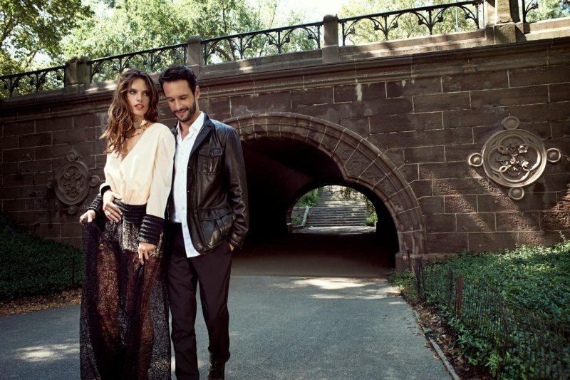 Alessandra Ambrosio & Rodrigo Santoro by Eric Guillemain for Vogue Brazil December 2011