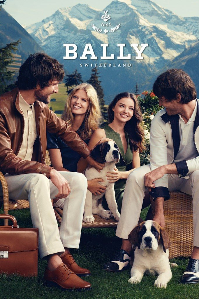 Miranda Kerr & Julia Stegner for Bally Spring 2012 Campaign by Norman Jean Roy