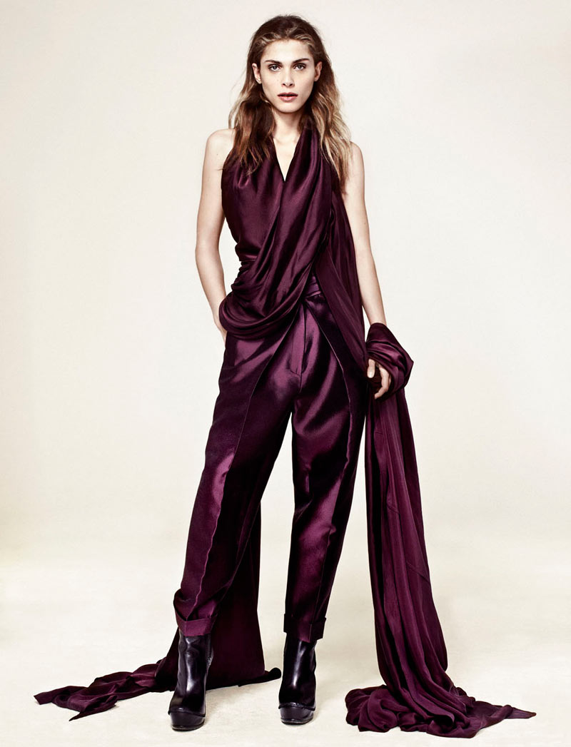 Elisa Sednaoui by Sergi Pons in Haider Ackermann for Marie Claire Spain December 2011
