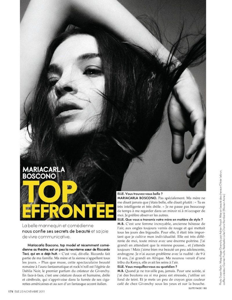 Mariacarla Boscono by Dusan Reljin for Elle France