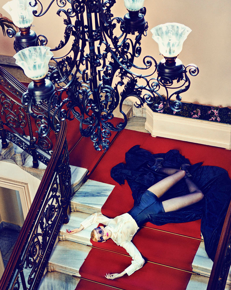Nina Reijnders & Victoria Lipatova by Koray Parlak for Marie Claire Turkey December 2011