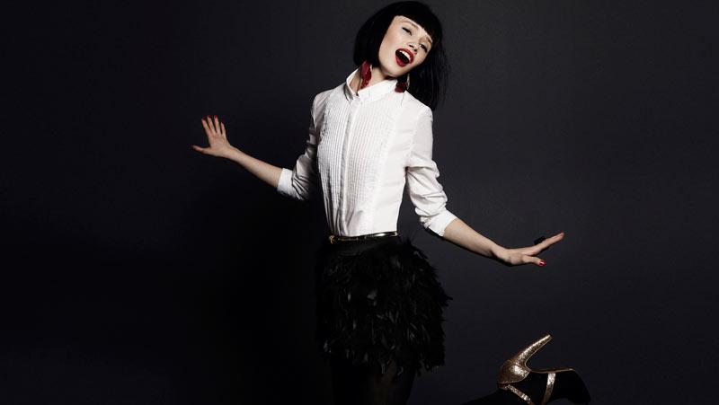 Ranya Mordanova for Stradivarius Christmas 2011 Campaign by Papo Waisman