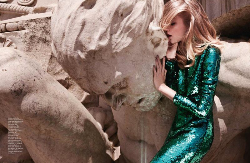 Vlada Roslyakova by David Roemer for Marie Claire Spain December 2011