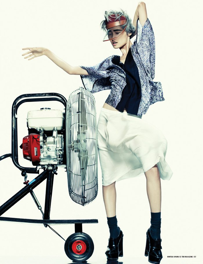 Wang Xiao by Christian Anwander for 10 Magazine Winter 2011