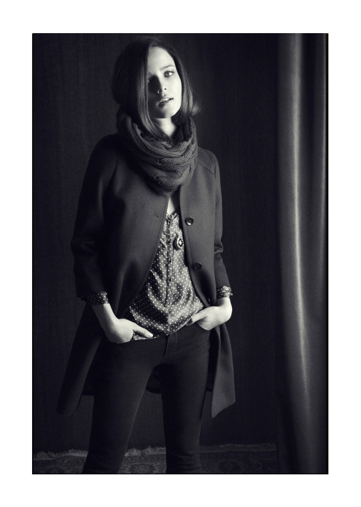 Anna de Rijk for Massimo Dutti December 2011 Lookbook