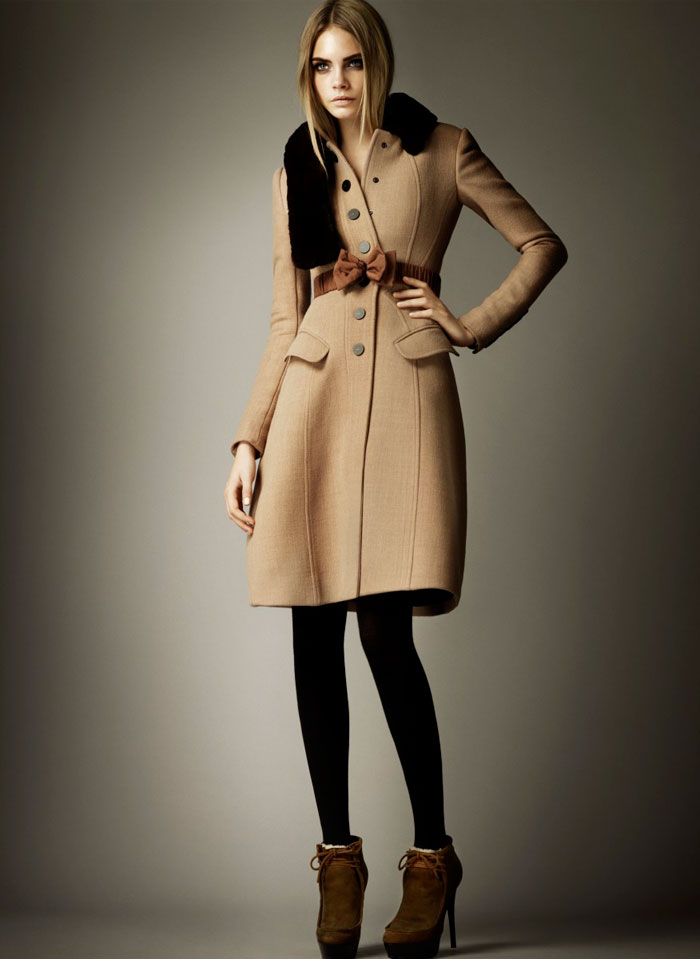 Burberry Nude Collection Fall 2011 featuring Cara Delevingne