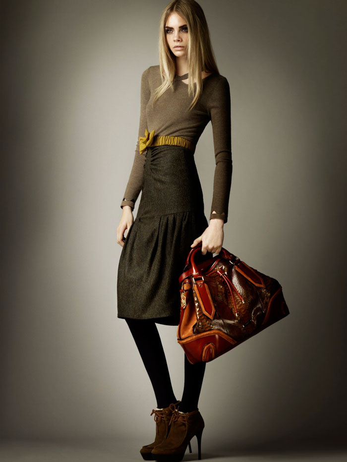 Cara Delevingne for Burberry Pre-Fall 2012 Collection