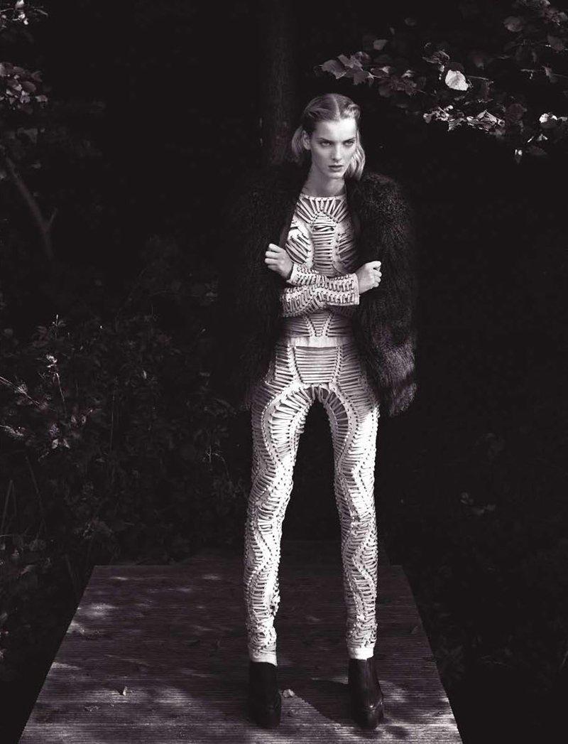 Denisa Dvorakova by Tina Luther for Harper's Bazaar Hong Kong