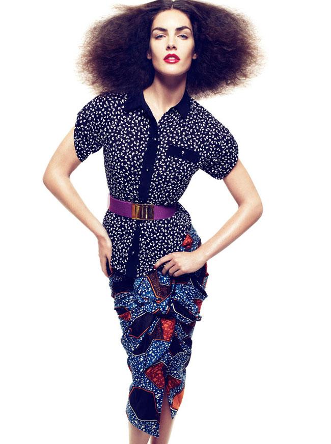 Hilary Rhoda by Alexi Lubomirski for Numéro Tokyo January/February 2012