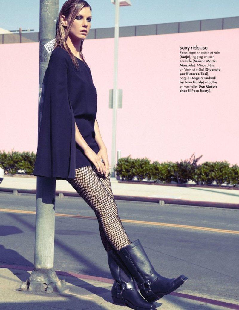 Angela Lindvall by Tesh for Elle France December 2011