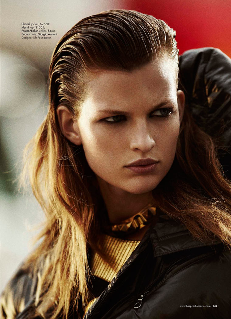 Bette Franke by Benny Horne for Harper's Bazaar Australia January 2012
