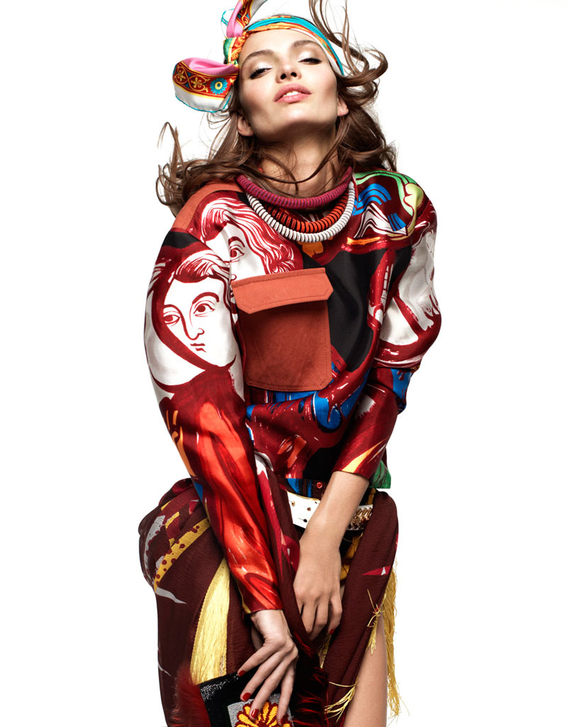 Carola Remer by Greg Kadel for Vogue Germany January 2012