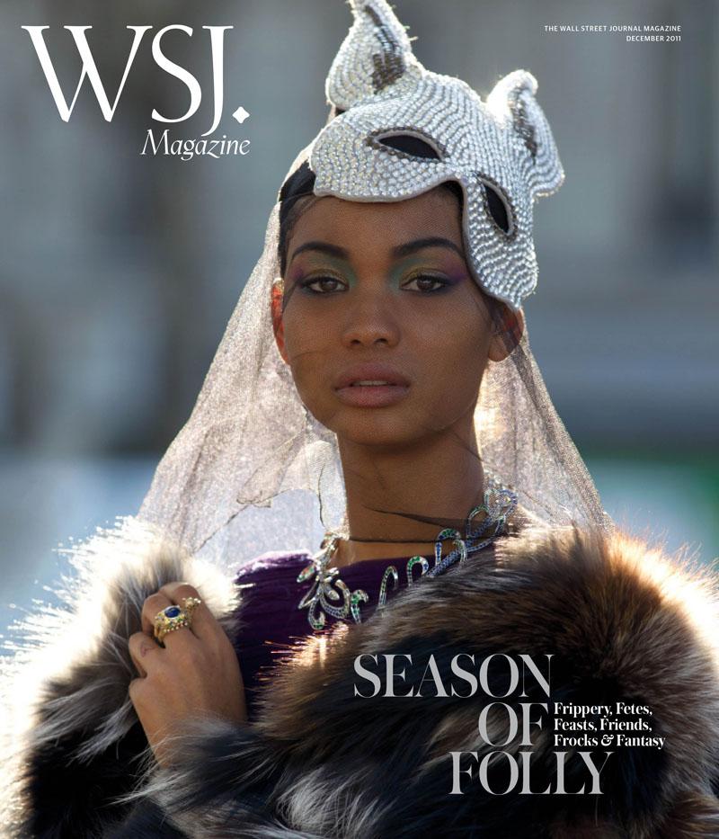 Chanel Iman by Hans Feurer for WSJ December 2011