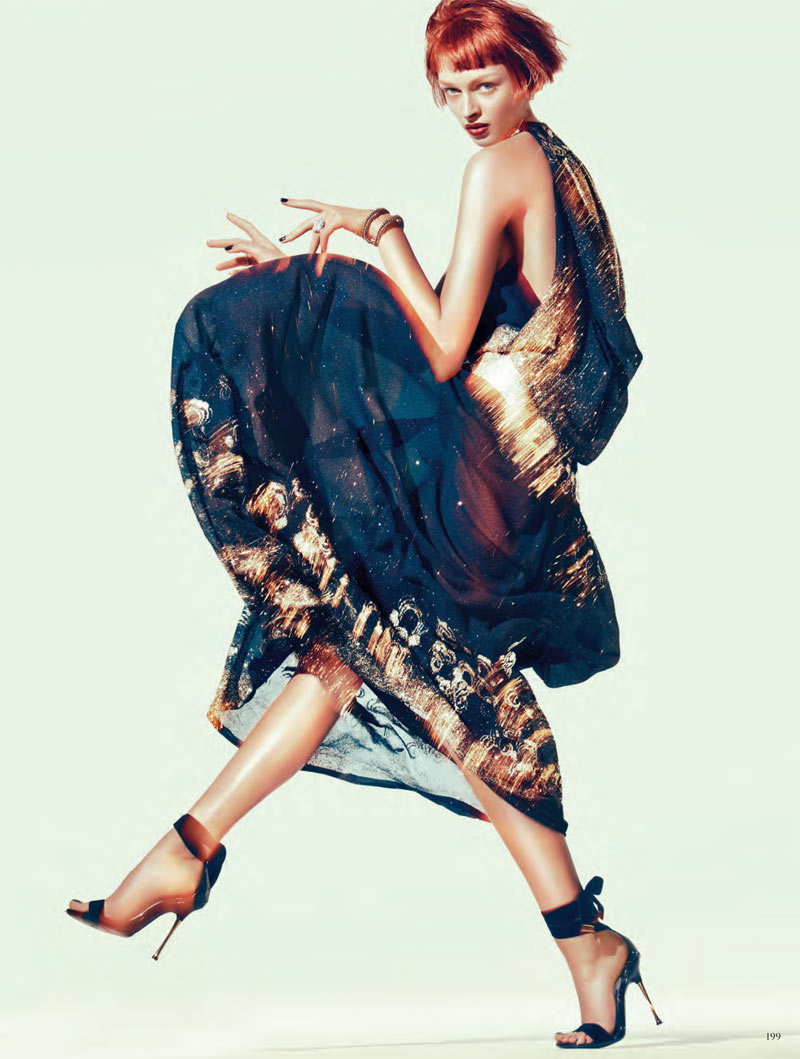 Daga Ziober by Sebastian Kim for Vogue Germany January 2012