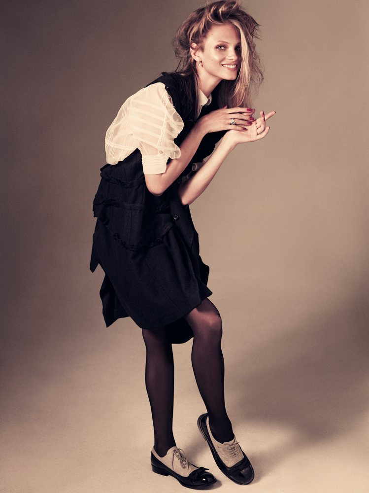 Anna Selezneva by Andreas Sjodin for Vogue Japan January 2012