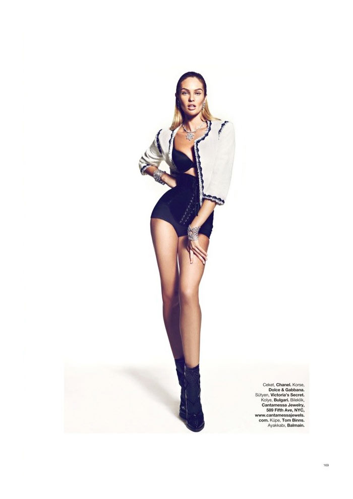 Candice Swanepoel by Koray Birand for Harper's Bazaar Turkey January 2012