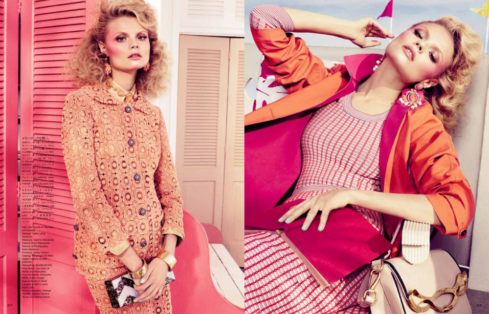 Magdalena Frackowiak by Sharif Hamza for Vogue Japan February 2012