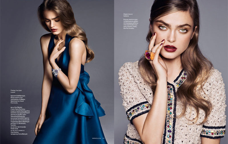 Sophie Vlaming by Asa Tallgard for Elle Russia January 2012