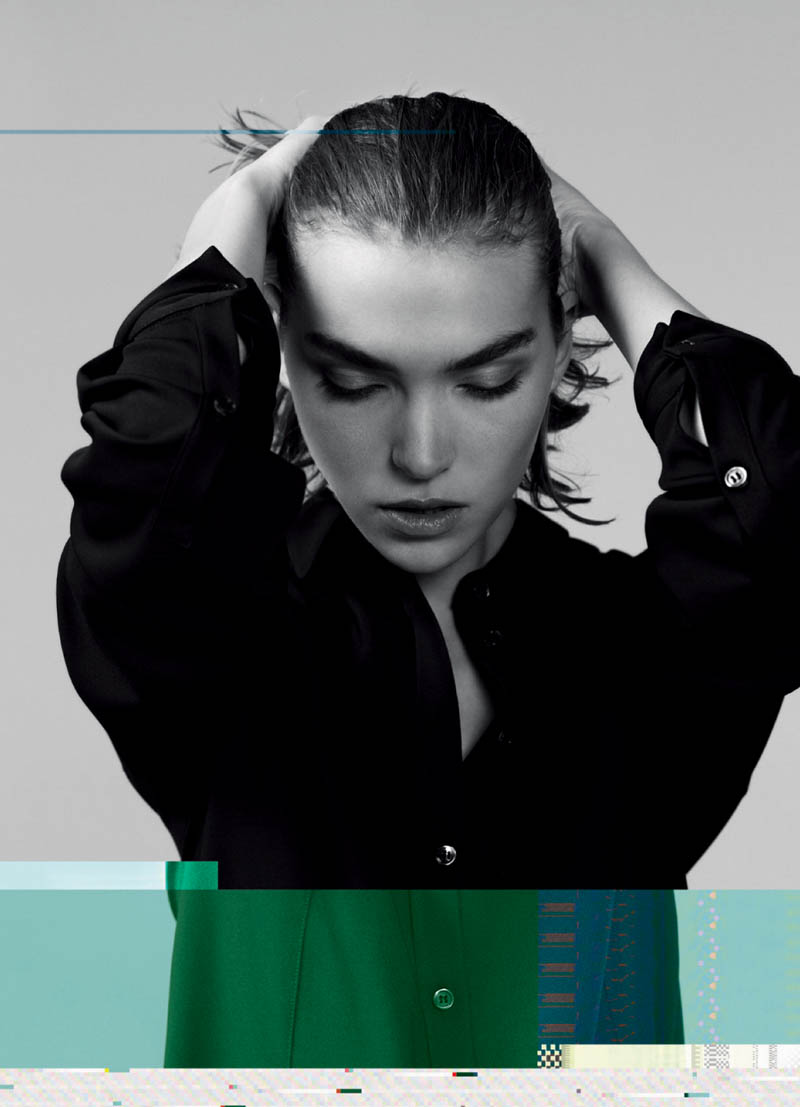 Jil Sander Navy Fall 2011 Campaign | Arizona Muse by Willy Vanderperre