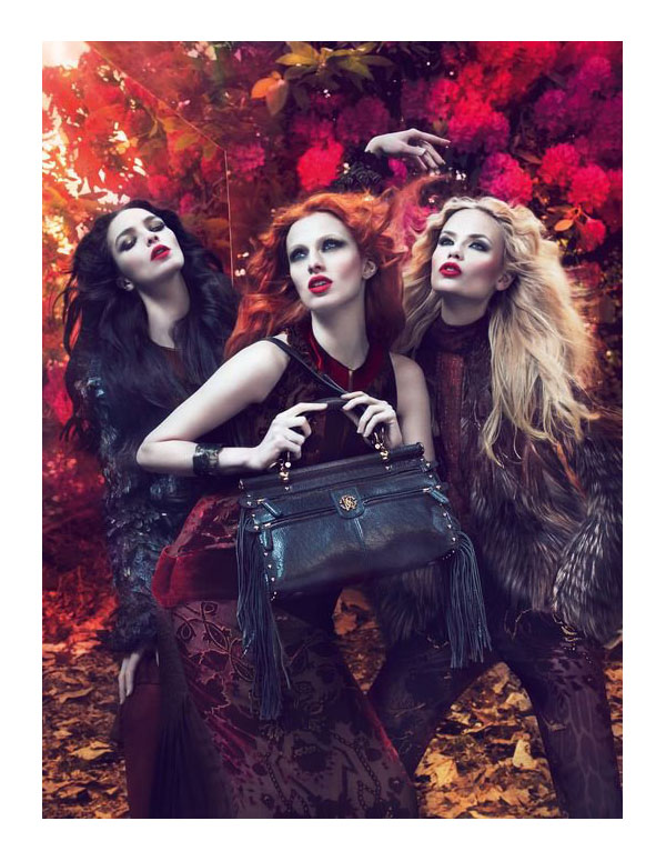 Roberto Cavalli Fall 2011 Campaign Preview | Natasha Poly, Mariacarla Boscono & Karen Elson by Mert & Marcus