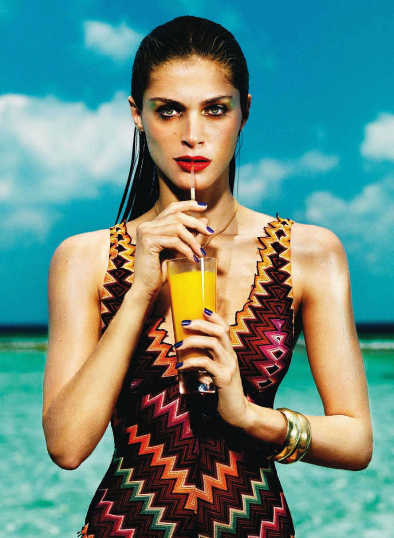 Elisa Sednaoui took a full dip for Harper's Bazaar Spain's July issue. / Photo by Nico
