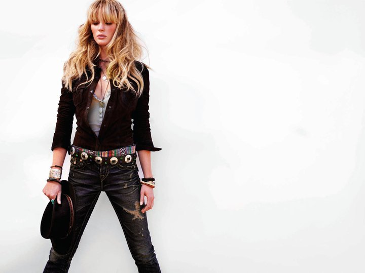 Anne Vyalitsyna for True Religion Fall 2011 Campaign by Nino Muñoz