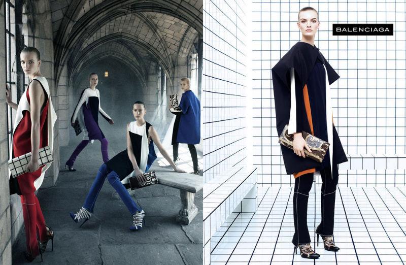 Balenciaga Fall 2011 Campaign | Liya Kebede, Julia Nobis, Juliane Gruner & Others by Steven Meisel