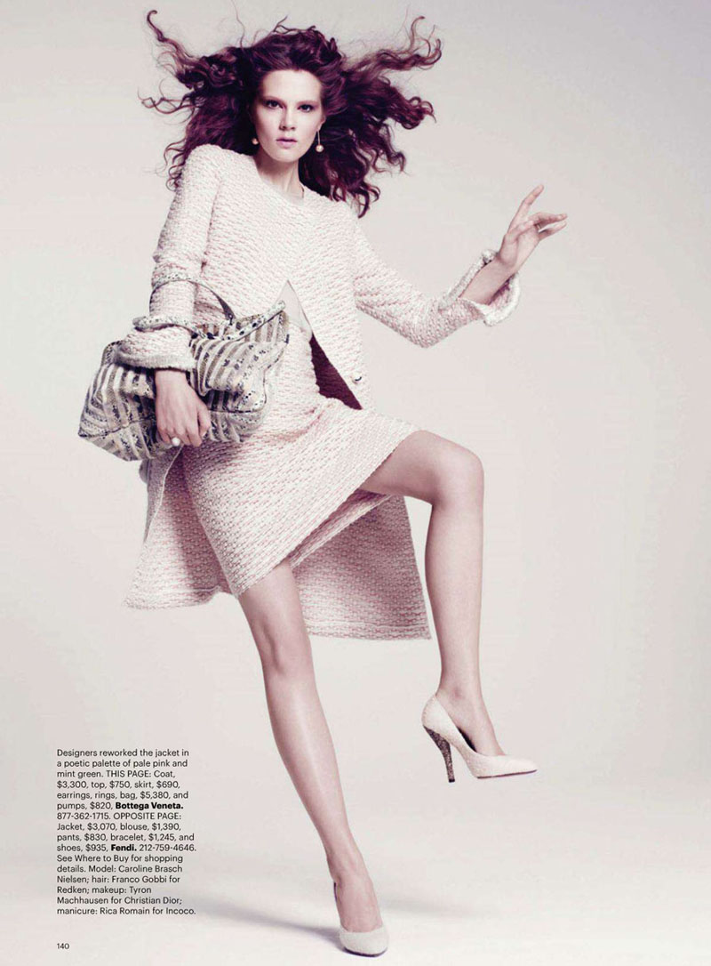 Caroline Brasch Nielsen by Paola Kudacki for Harper's Bazaar US August 2011