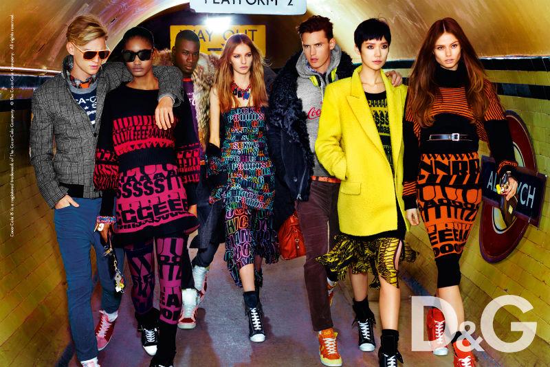 D&G Fall 2011 Campaign    Melodie Monrose, Tao Okamoto, Marique Schimmel & Aiste Kliveckaite by Mario Testino