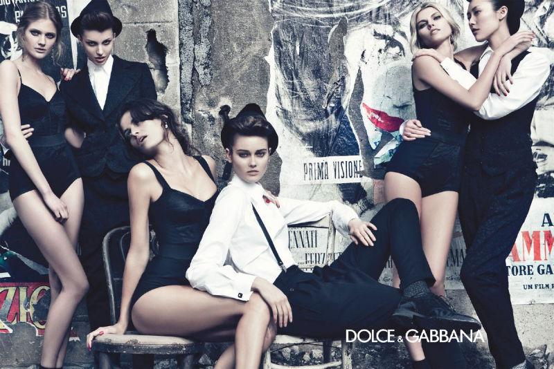Dolce & Gabbana Fall 2011 Campaign | Isabeli Fontana, Liu Wen, Maryna Linchuk, Constance Jablonski, Jac Jagaciak & Kate King by Steven Klein