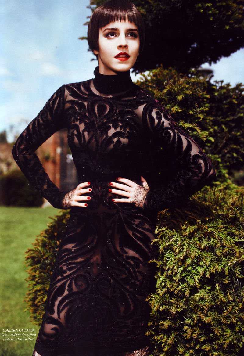 Emma Watson by Alexi Lubomirski for Harper's Bazaar UK August 2011