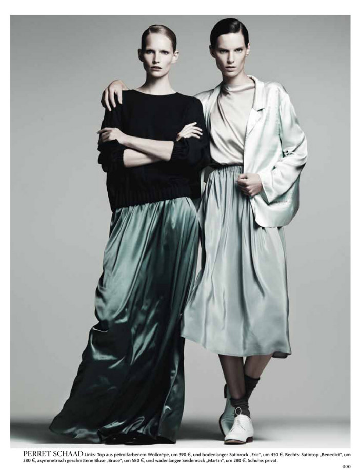 Iris Strubegger & Katrin Thormann by Gregory Harris for Vogue Germany August 2011