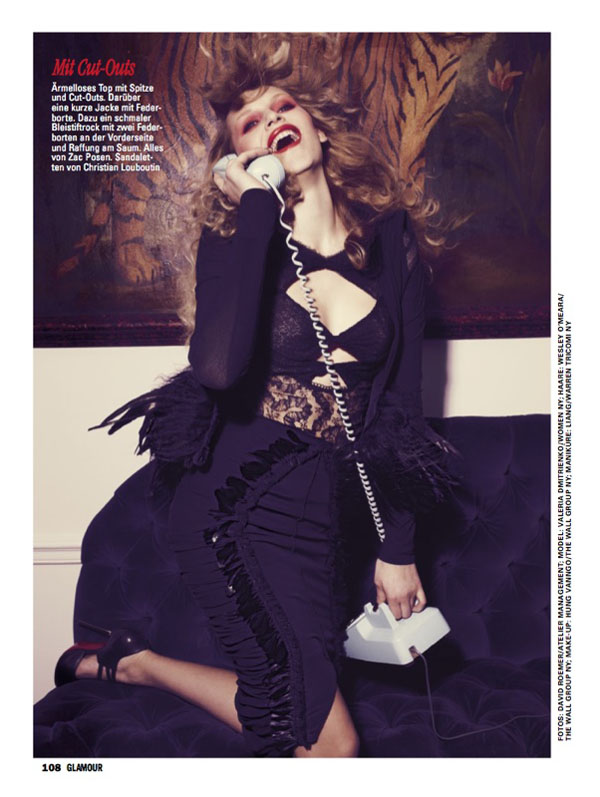 Valeria Dmitrienko by David Roemer for Glamour Germany August 2011