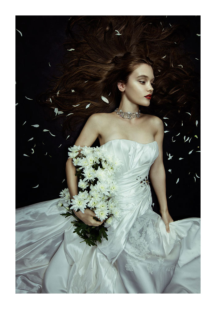 Alyona B & Nicole Volfova by Zhang Jingna for SingaporeBrides August 2011