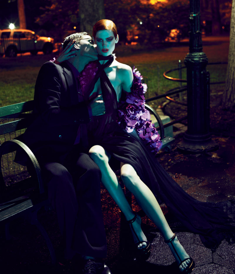 Saskia de Brauw & Marique Schimmel in Gucci for Interview August 2011