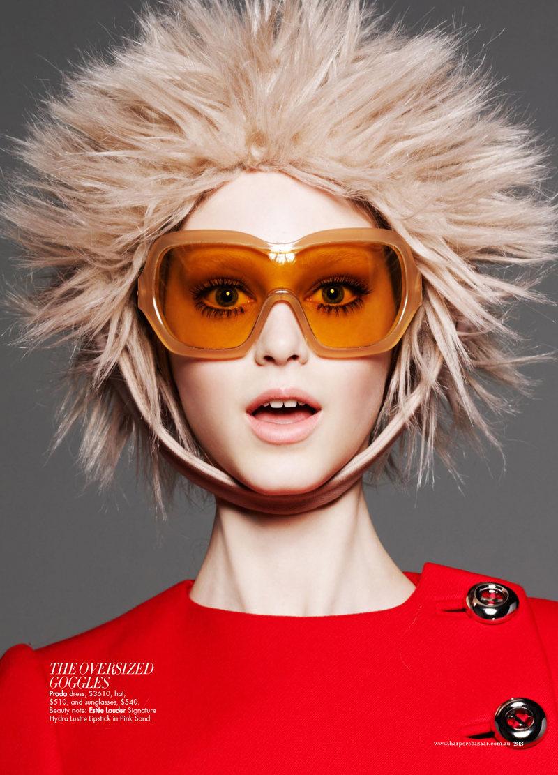 Jemma Baines by Luke Irons for Harper's Bazaar Australia September 2011