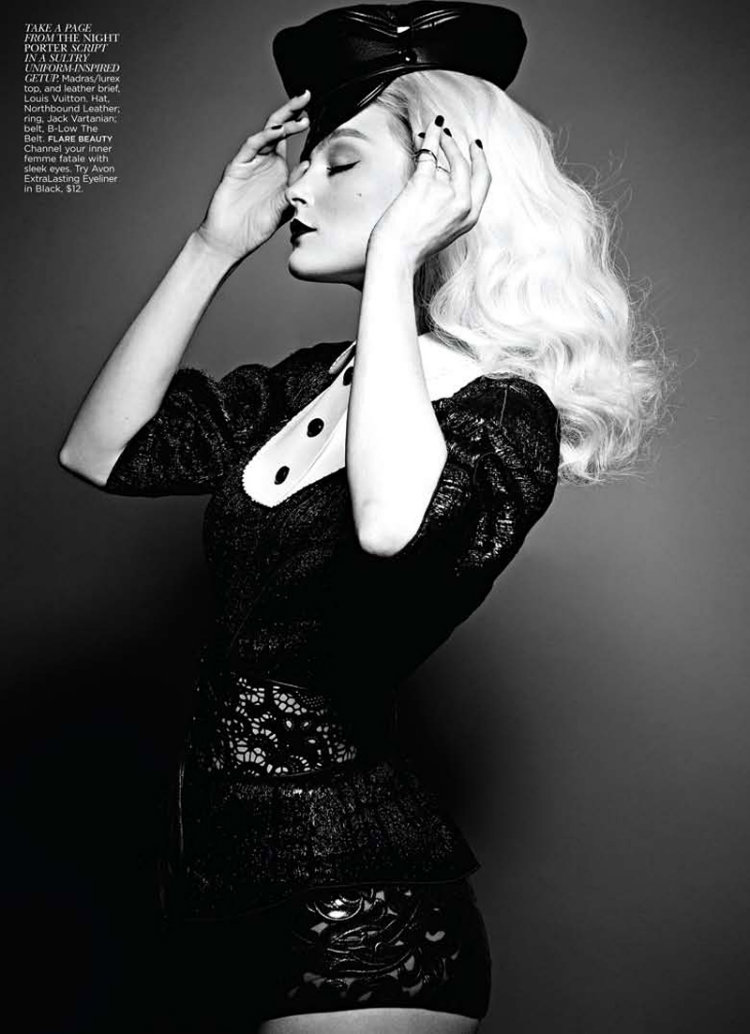 Jessica Stam by Max Abadian for FLARE September 2011