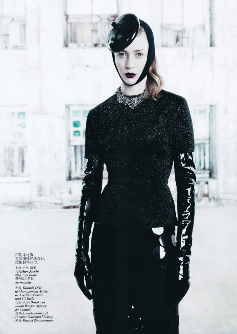 Raquel Zimmermann by Willy Vanderperre for Vogue China August 2011