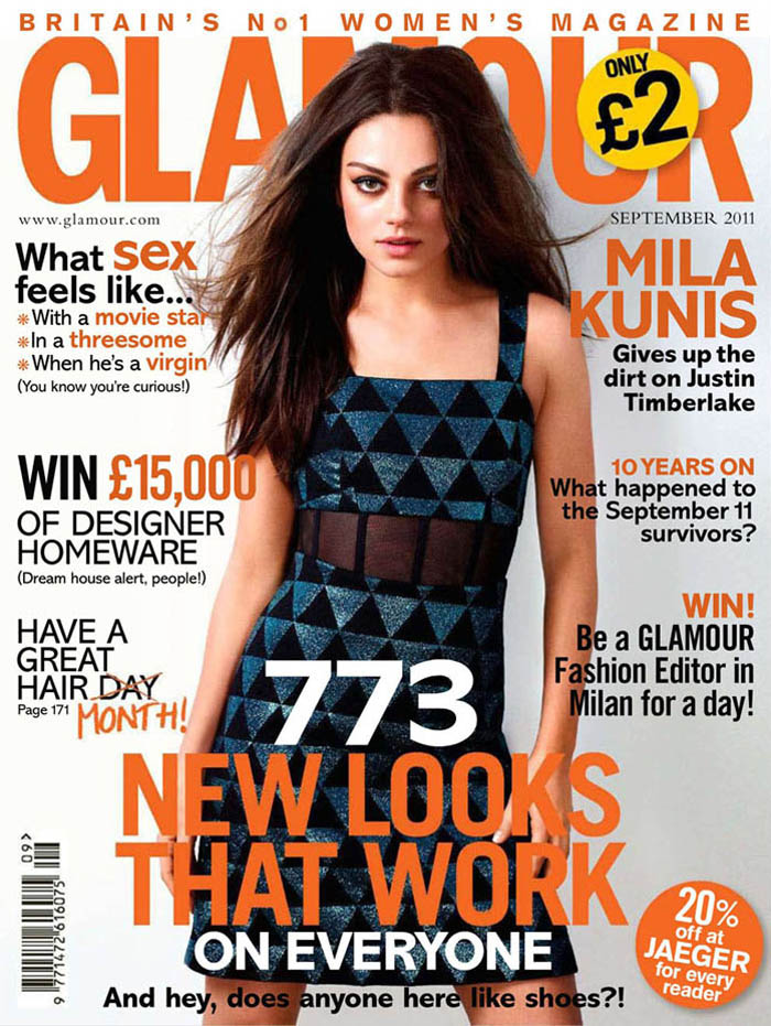 Mila Kunis by Robert Erdmann for Glamour UK September 2011
