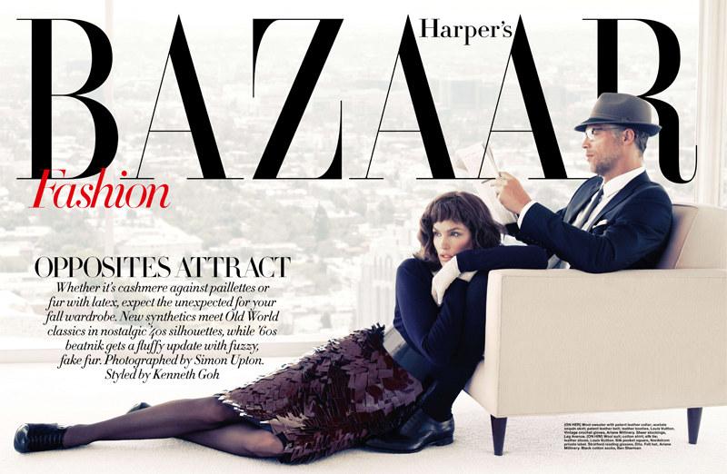 Cindy Crawford for Harper's Bazaar Singapore September 2011 by Simon Upton