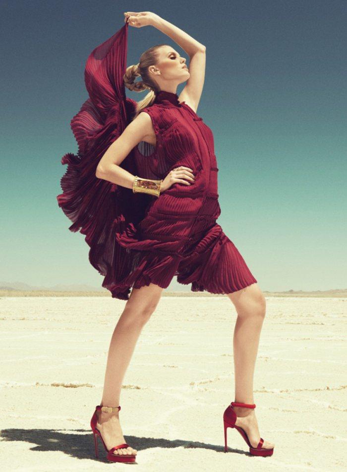 Maryna Linchuk by Paola Kudacki for Harper's Bazaar US September 2011