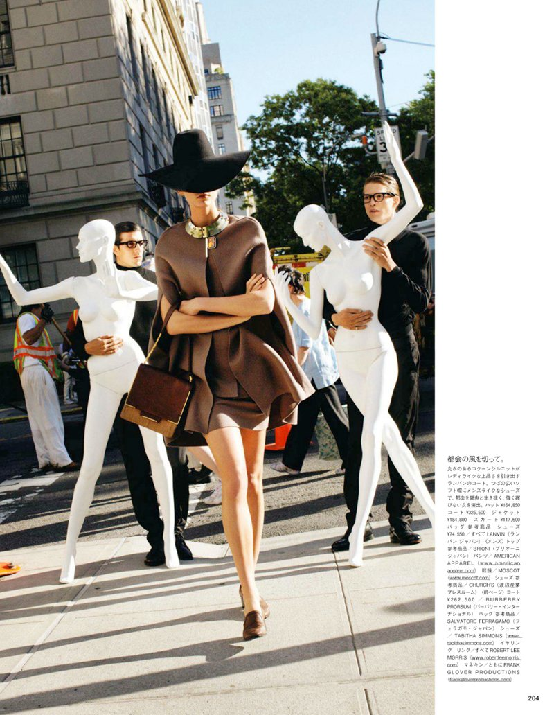 Karlie Kloss by Arthur Elgort for Vogue Japan September 2011
