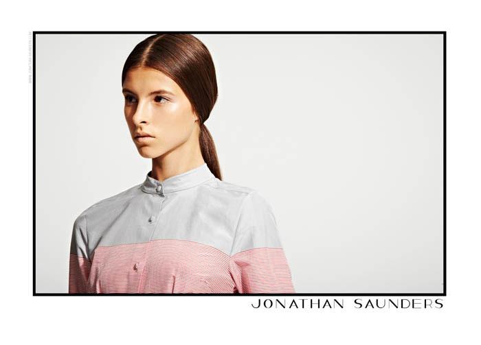 Anais Pouliot, Kate King, Dempsey Stewart & Isaac for Jonathan Saunders Resort 2012 by Blair Getz Mezibov