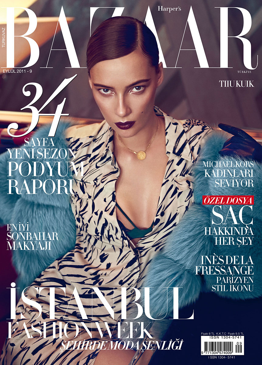 Harper's Bazaar Turkey September 2011 Cover | Tiiu Kuik by Koray Birand