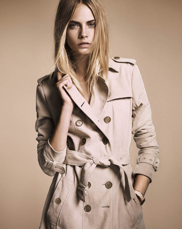 "Burberry ""Nude"" Fall 2011 Collection: Cara Delevingne"