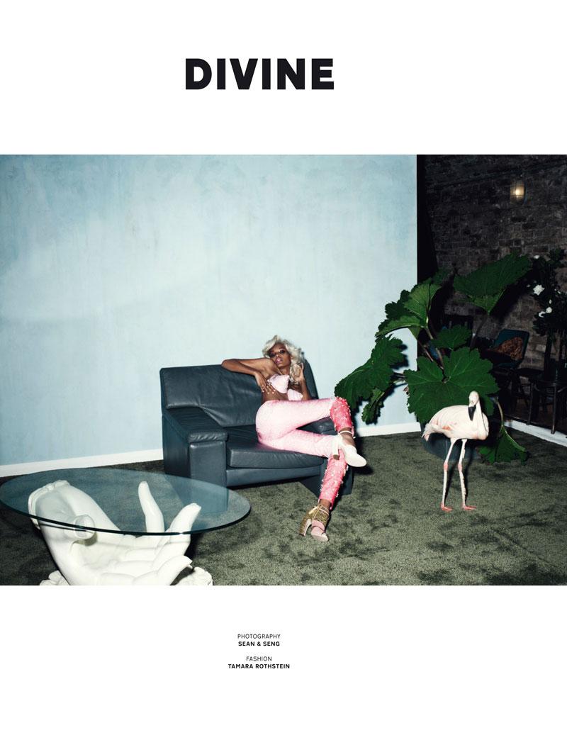 Liya Kebede by Sean & Seng for Pop F/W 2011
