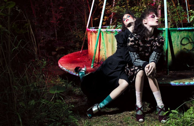 Tati Cotliar & Querelle Jansen by Willy Vanderperre for LOVE F/W 2011