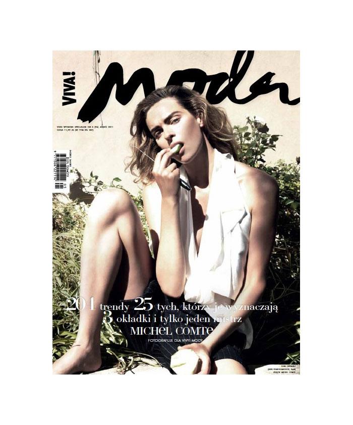 Viva! Moda Fall 2011 Cover | Magdalena Frackowiak, Tasha Tilberg & Elise Crombez by Michel Comte