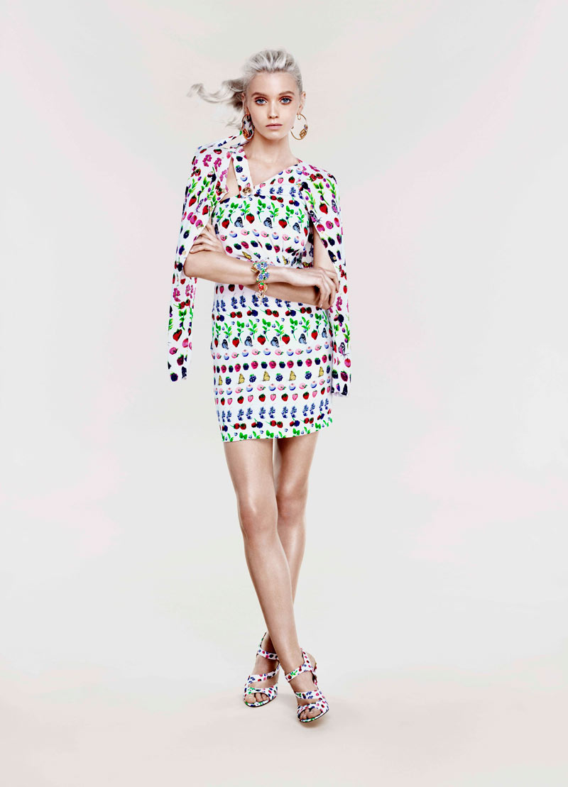 Abbey Lee Kershaw for Versace x H&M Cruise 2012 Lookbook